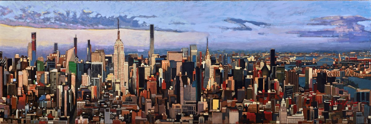 Manhattan, Looking North by stephen collett -  sized 47x16 inches. Available from Whitewall Galleries